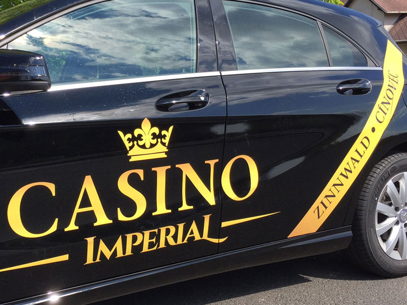 Polep vozu Casino Imperial Cínovec 1