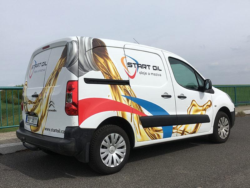 Start Oil - oleje a maziva - polep firemního vozu 5