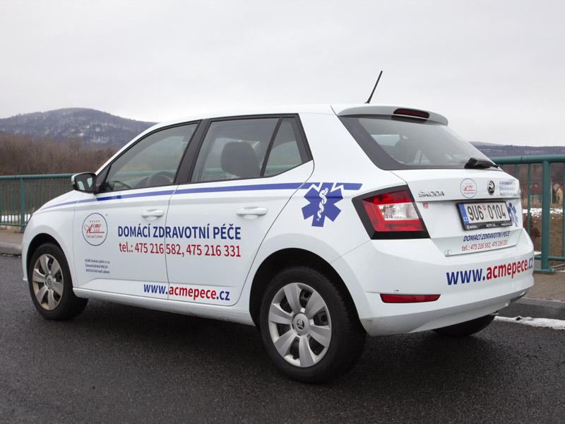 Polep vozidel - ACME domácí péče