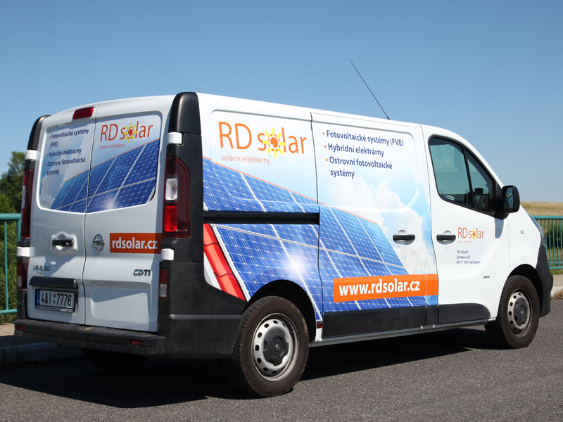 Polep auta RD Solar