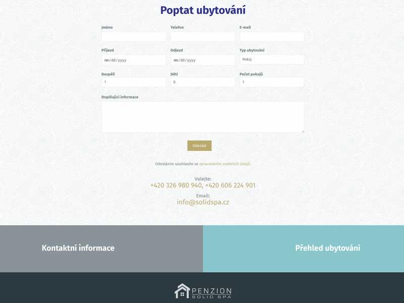 web Penzion Solid Spa